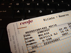 Billete de Renfe
