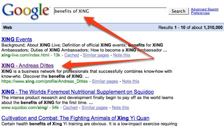 Benefits of Xing