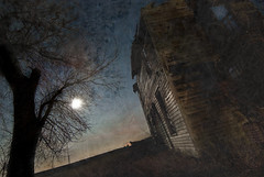 The Moon is a Witness (aud...) Tags: november moon fire illinois haunted fullmoon burned hauntedhouse mountmorris mtmorris lindapastan
