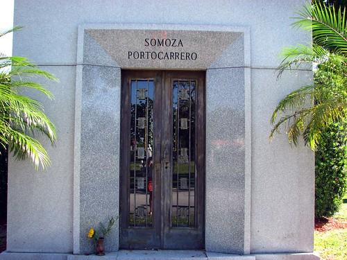 Somoza's tomb.