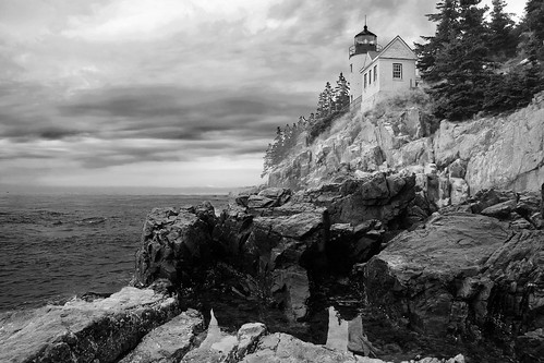 Black & White Lighthouse
