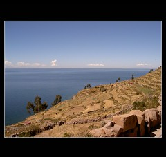 Taquile Island (makita ^) Tags: lake peru titicaca lago island paisaje cielo vista taquile isla acantilado horizonte colorphotoaward ltytr1