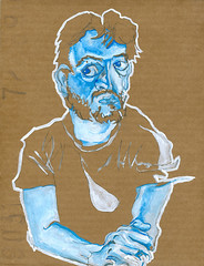 self-portrait #10 guache on cardboard 8