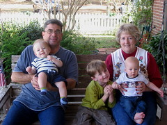 Grandma & Grandpa with Carter, Logan & Ian