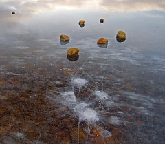 You can try to break me, but I will remain beautiful. (James_at_Slack) Tags: abstract ice reflections scotland frozen aberdeenshire boulders loch cracks breaking themoulinrouge kinord lochkinnord naturewatcher