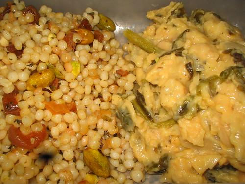 israeli couscous and lemony chickpeas