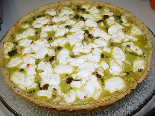 VDP: Swiss Chard, Shallot and Goat Cheese Tart – Oven-Dried Tomatoes