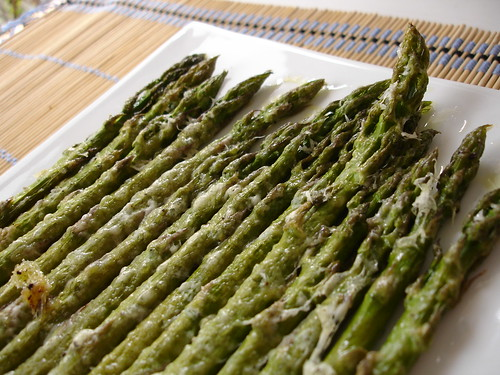 Martha's roasted asparagus with parmesan