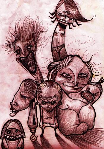 la familia de la tia socorro (boceto)