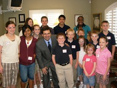Rep. Bilirakis with children from HOPE Children's Home during Give Kids a Smile event.