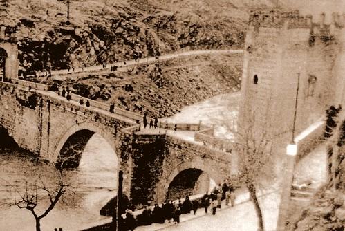 Inundación de 1947, Puente de Alcántara