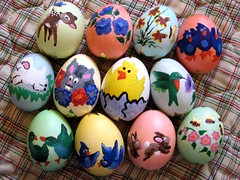 cascarones 2008 (arctexas) Tags: painting easter ooak egg handpainted eastereggs paintedeggs cascarone