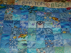 detail of beach house quilt