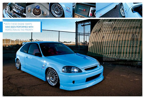 98 Civic HB EK, K20a, 5-lug, baby blue, NSX brakes - Honda ...