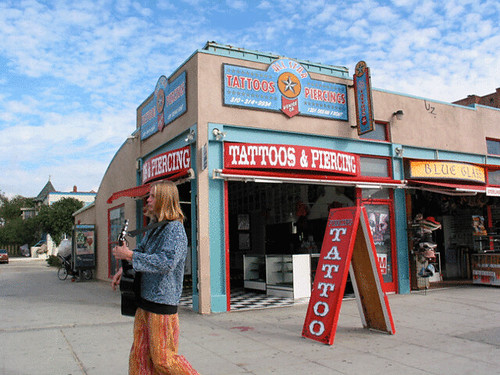All Star Tattoo & Piercing. Airy Venice boardwalk tattoo and piercing salon