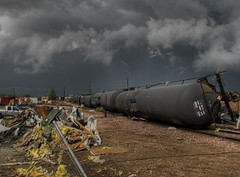 Oil Tankers (Jesse Clark) Tags: trash train colorado windsor tornado derailed 3xp coloradothunderstorms