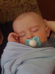 Sleeping on daddy