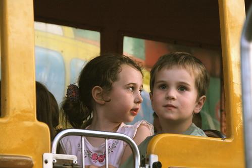 kids on crazy bus