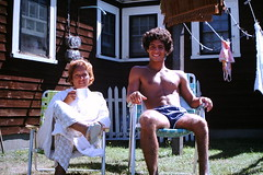 Foundn Photo - Cape Cod 1974 (Mark 2400) Tags: found photo cape cod 1974 shirtless guy