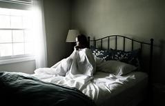 Swim in a deep sea of blankets. (alibubba) Tags: selfportrait window bed song naturallight sheets sp sick puke vomit johnmayer selfie lyric 365days swiminadeepseaofblankets