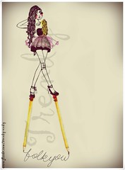 folk you darling  (Trendy W) Tags: pink ballet colors girl lines illustration pen pencil ink dance drawing folk trendy colored draw trendyendy nanquin trendyw