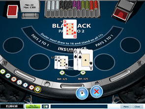 single hand blackjack