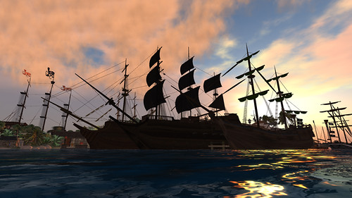 Pirate ships at Jabberwock - image by PJ Trenton