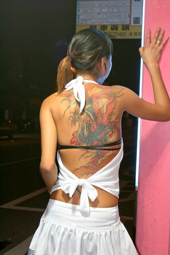 Betelnut girl 檳榔西施 with tattoo design