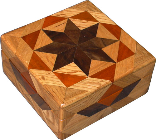 Oak Square Box