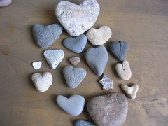 heart shaped rocks from Malibu