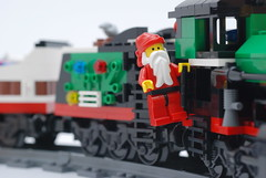 Lego Holiday Train (713 Avenue) Tags: christmas xmas holiday train season nikon lego santaclaus greetings nikkor minifigure 60mmf28dmicro holidaytrain 10173 d80