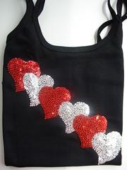 Para as romnticas...Coraes!!! (Collore Arte) Tags: artesanato coraes tshirts regatas bordados camisetas babylook
