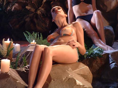 bikini top. Wet Bikini Top! Candles?