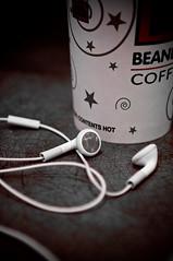 Snowed In (TerryJohnston) Tags: music macro apple coffee macintosh mac bokeh coffeehouse process earbuds iphone beaners tuningout iphoneearbuds biggby istillcallitbeaners snowmintmocha ibravedasnowstormforcoffee