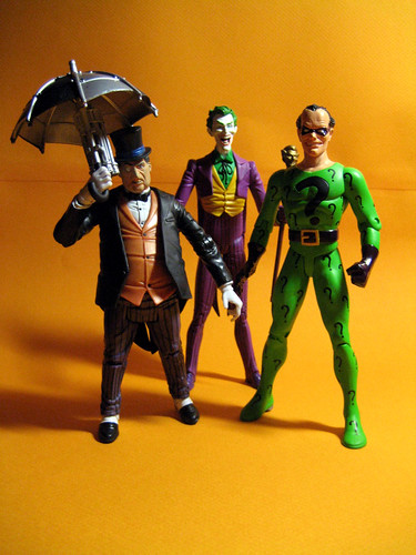 Penguin, Joker and Riddler