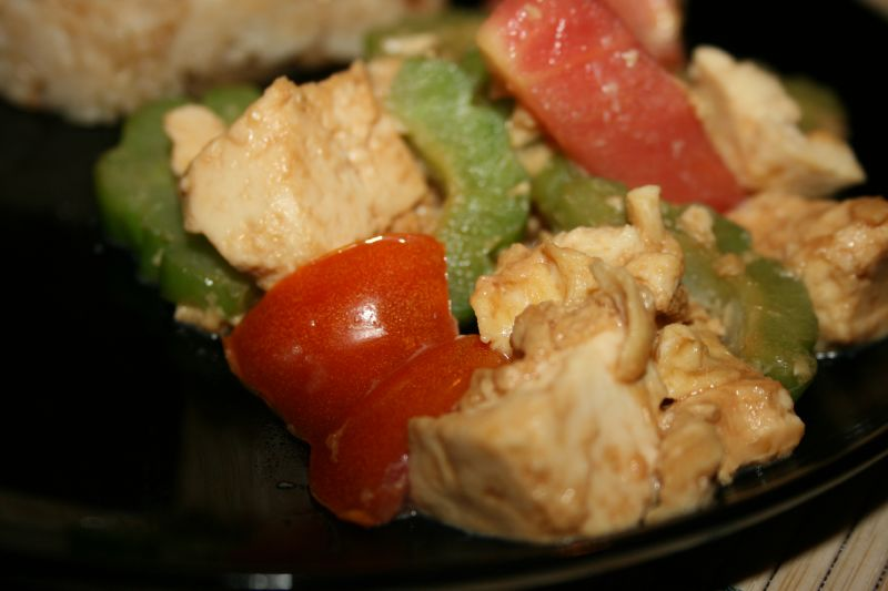 Bitter Melon & Tofu Stir Fry 2