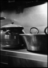 vessels (gabo_) Tags: sanfrancisco bw film kitchen pot clay copper kodakbw400cn olea leicam3 123bw processc41 californialarkin