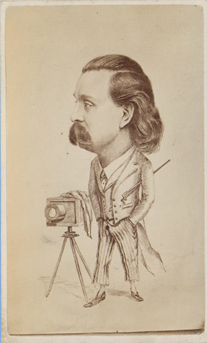 Carte De Visite Caricature Of A Photographer