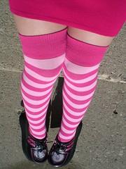 i'm going to hell for sure (Lorena Cupcake) Tags: feet socks shoes heels kicks shoegazer kneehighsocks lowerhalf otks