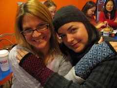 Lisa and my mitts!
