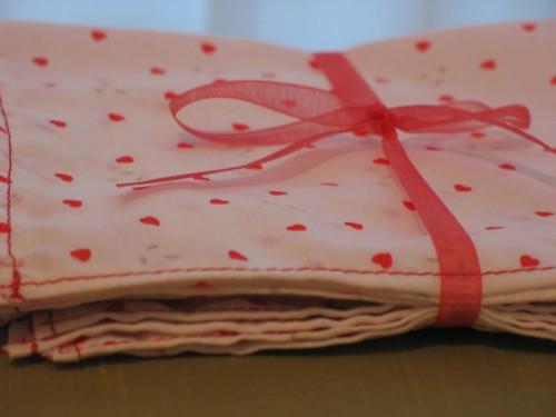 valentine napkins