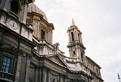 Sant'Agnese of Agone basilica - Piazza Navona (pjink11) Tags: rome europe 1998 piazzanavona navona agone