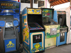 Old Video Games at the Manitou Arcade