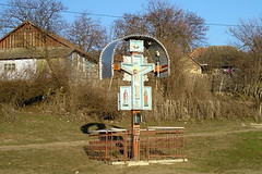 Roadside shrine (jrozwado) Tags: shrine europe village cross jesus orthodox moldova traditionalculture ethnography folkculture
