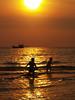kids, a boat and a sunset (AraiGodai) Tags: sea kids interesting play explore araigordai anawesomeshot raigordai araigodai