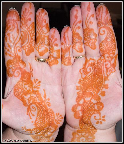 Maria's henna hands