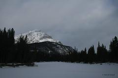 Cascade Mountain (Turniposaurus) Tags: trees mountain snow canada clouds alberta banff snowshoeing banffnationalpark cascademountain