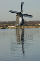 molen aan de plas (Ren Mouton) Tags: park holland reflection reed nature netherlands windmill amsterdam natuur riet molen waterland wandeling 1580 spiegeling denilp ttwiske 10februari2008 achtkantigebovenbinnenkruier twiskemolen basingerhorn