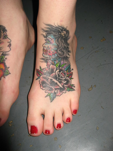 Foot Tattoos by Hector Fong