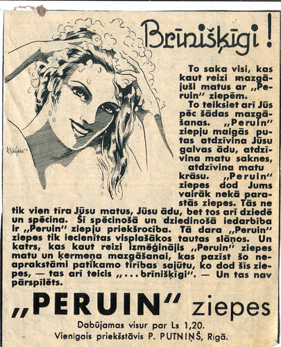 Peruin soap in Latvia